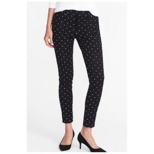 Old Navy Pixie Pant Black White Dot Size 14